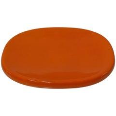 Ovale Orange Dish by Angelo Mangiarotti for Danese Milano, Italy