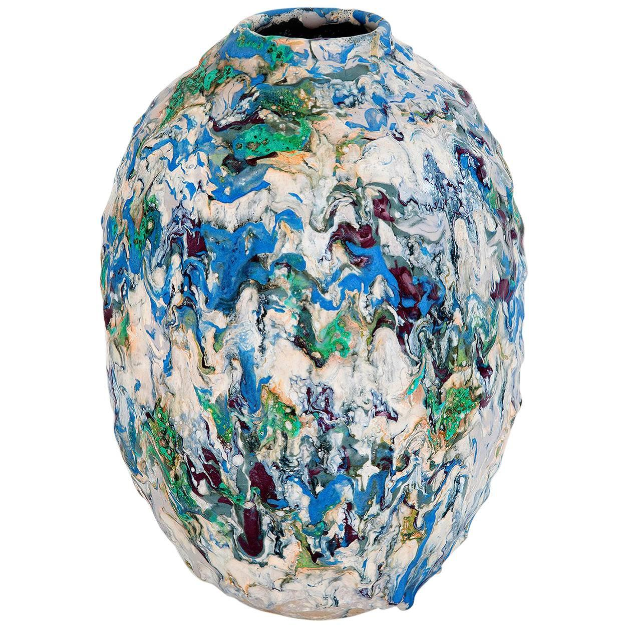 Contemporary Colourful Ceramic Vase by Morten Løbner Espenser, Copenhagen, 2016