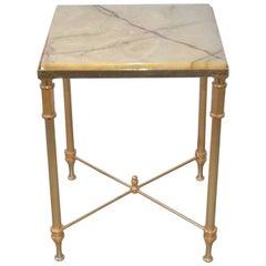 Maison Jansen Style Onyx Side Table