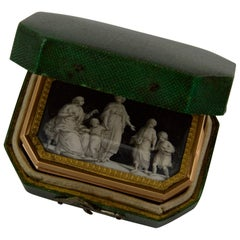 18th Century Miniatures Snuff Box in Its Original Fitted-Case in Galuchat