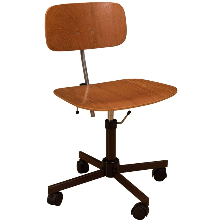 Vintage Teak Kevi Office Chair by Jorgen Rasmussen
