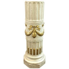 Belle Epoque French Ornate Wood Pedestal