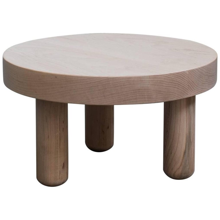 Low Table End Side in Clear Maple   For Sale