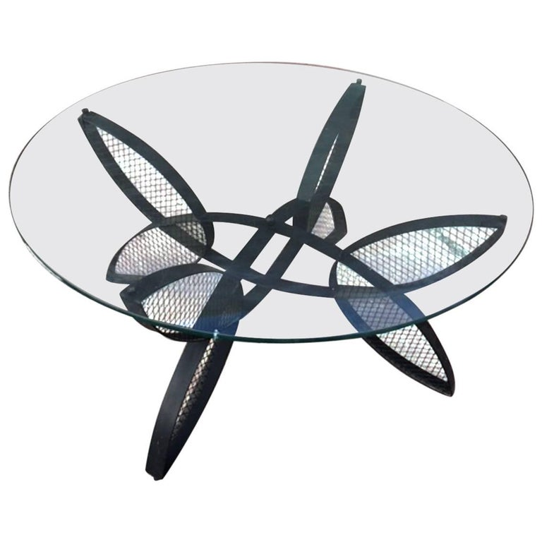 Maurizio Tempestrini Iron Butterfly Base Coffee Table for Salterini