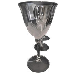 Crystal Wine Glasses, Signed J.G Duran, Florence Pattern Wine Glasses