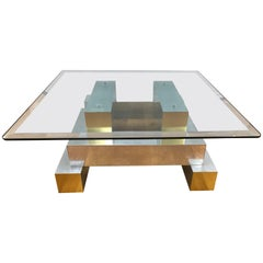 Paul Evans Cityscape Cocktail Coffee Table 1970s Mid-Century Modern Brutalist