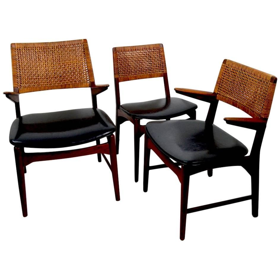 Set Of Six Danish Dining Chairs By Maurice Villency