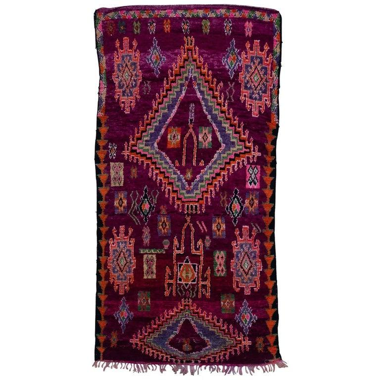 Vintage Moroccan Boujad Rug For Sale At 1stdibs