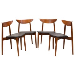 Set of Four Danish Teak Dining Chairs by Harry Ostergaard for Moreddi