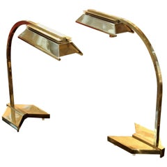 Pair of Solid Brass Casella Table Lamps