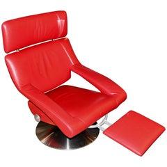 De Sede DS-255 Red Leather Recliner