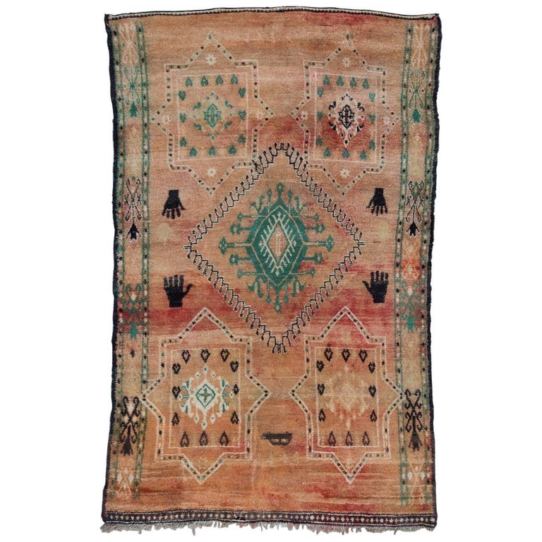 Vintage Moroccan Zemmour Zaer Rug For Sale At 1stdibs