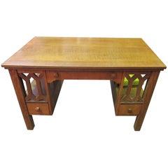 American Arts & Crafts Period Mission Oak Desk