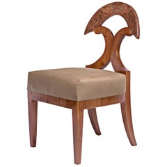 Biedermeier Style Yoke Back Side Chair by Gaisbauer Austria