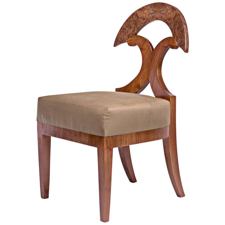 Biedermeier Style Yoke Back Side Chair by Gaisbauer Austria