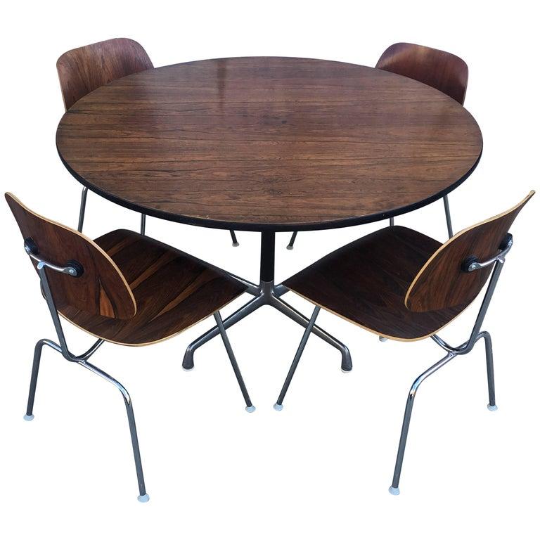 Miller Dining Table Sets ~ Herman miller eames rosewood dining set at stdibs