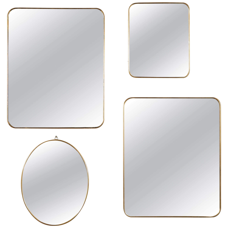 Italian Brass Mirrors