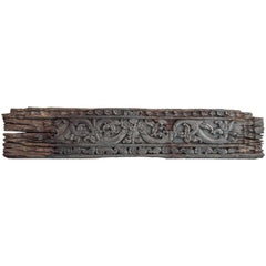 Wood Carved Ironwood Panel with Floral Motif, Borneo, Mid-20th Century