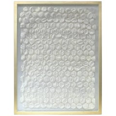 "Peter Buchman ""Bubble Wrap in White"" with Gold Leaf Frame, 2017"
