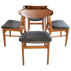 Teak and Beech Dining Chairs from Farstrup