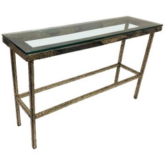 Studio Brutalist Console Table by Sculptor John De La Rosa