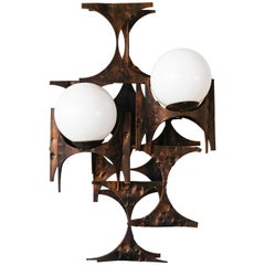 Large 1960s Brutalist Sconce by Marc Weinstein