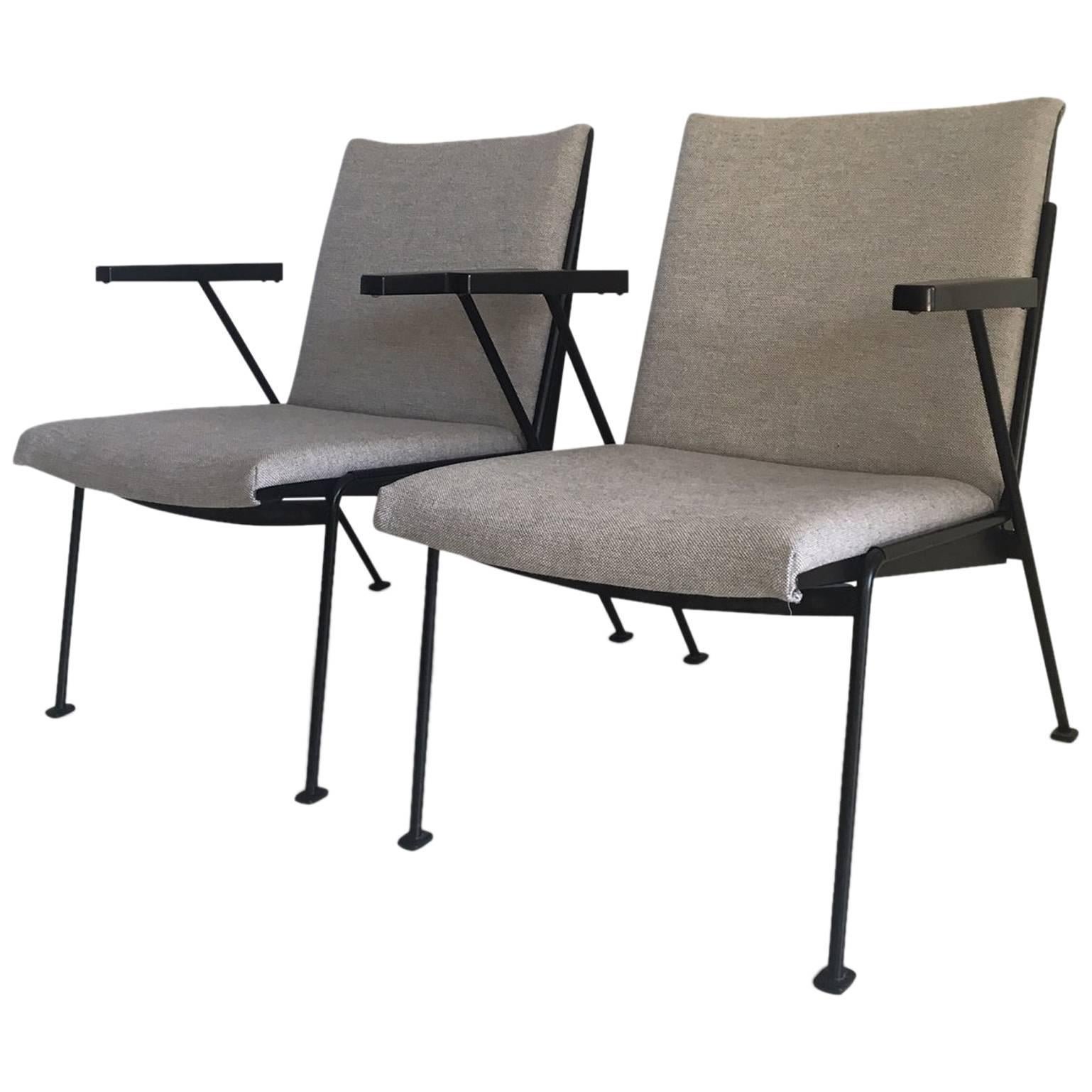 Black Oase Lounge Chairs By Wim Rietveld For Ahrend De Cirkel, 1950s