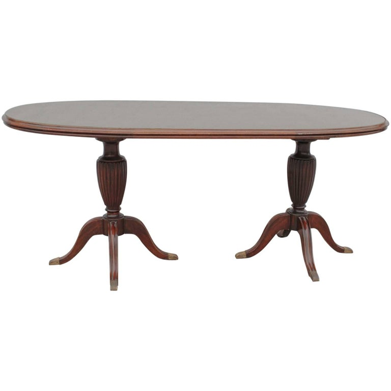 Mahogany Regency Revival Two Pillars Oval Dining Table  : 9375763master from www.1stdibs.com size 768 x 768 jpeg 25kB