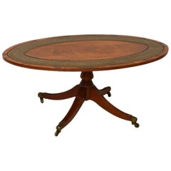 Antique Mahogany and Leather Coffee Table