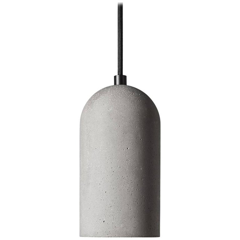 U Concrete Ceiling Lamp by Bentu Design For Sale