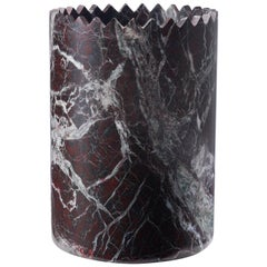 Triangoli Red Vase in Levanto Marble, by David/Nicolas for Editions Milano