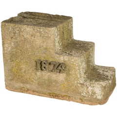Carved Stone Equestrian Horse Mounting Block Steps