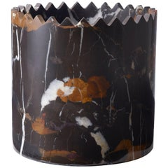 Triangoli Black and Gold Vase in Marble, by David/Nicolas for Editions Milano