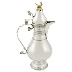 1910s Turkish Silver Coffee Jug