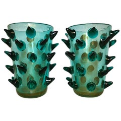 Pair of Murano Vases Signed by Constantini
