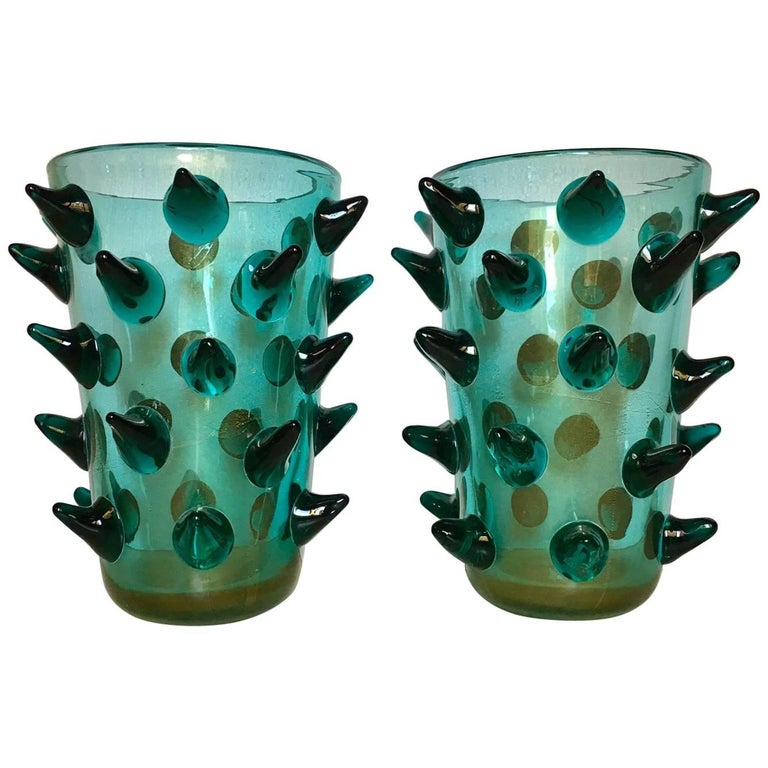 Pair Of Murano Vases Signed By Constantini For Sale At 1stdibs