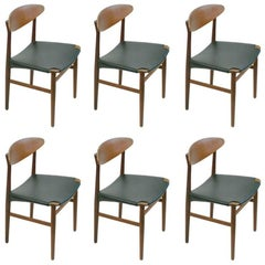 Set of Six Danish Teak Dining Chairs by Peter Hvidt and Orla Mølgaard Nielsen