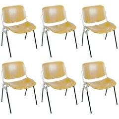 Set of Six Castelli DSC 106 Stacking Chairs by Giancarlo Piretti