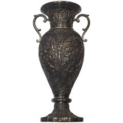 Achaemenid Revival Repoussé Silver Vase, Persia, circa 1900