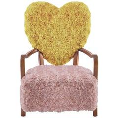 Uni Yellow and Pink Armchair by Merve Kahraman