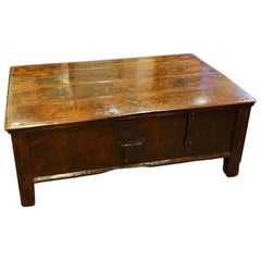 Antique Colonial Hardwood Large Coffee Table Trunk