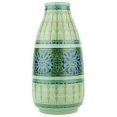 Art Deco Keramis Boch Green Vase