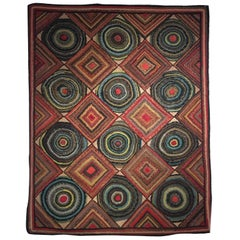 Spectacular Hooked Rug Designed by Stephen T. Anderson