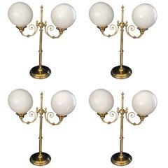 Superb Set of Four Vintage Gallery Lights
