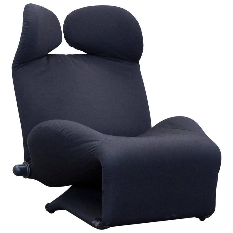 Cassina Wink Designer Armchair Fabric Black One Seat Couch