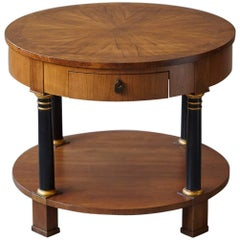 Empire Style Walnut Side Table by Baker Furniture