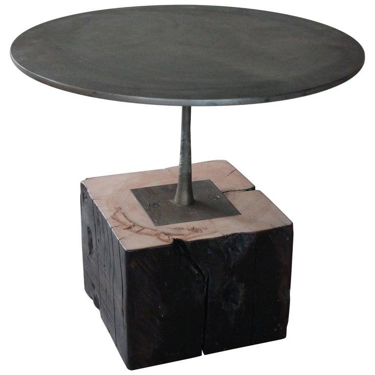 Kinoko Minimal Modern Bronzed Steel Side Table