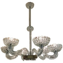 Murano Chandelier by Barovier and Toso, Italy, 1940