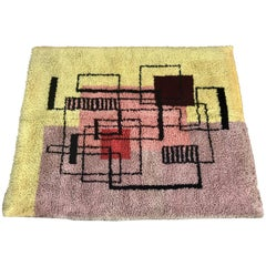 Modernist Abstract Geometric Rya Rug