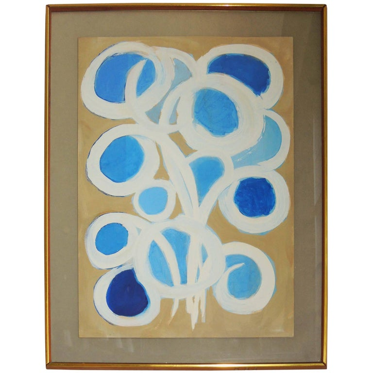 "Abstract Painting by Emlen Etting ""Eclat Du Jour"", 1964 For Sale"